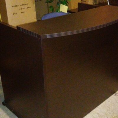 OS 4' Bow front reception desk espresso