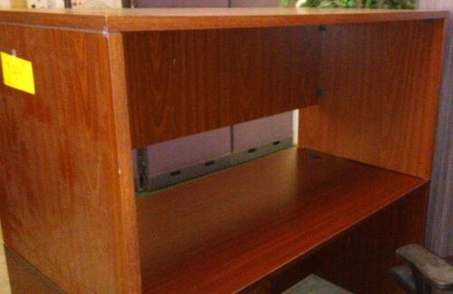 "Used 30"" table desk cherry laminate"