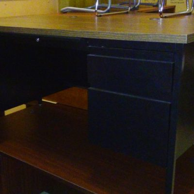 "closeout 30"" X 60"" metal desk with laminate top"