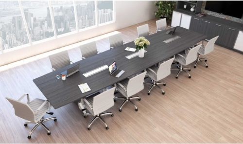 14' Boat conference table gray