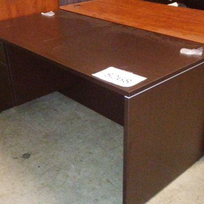 5' Desk w/ box/file pedestals Espresso laminate