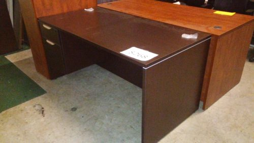 5' Desk w/ box/file pedestals Espresso laminate