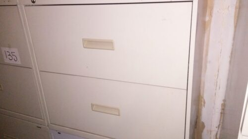 """Used HON 2-drawer 30"""" lateral file putty"""