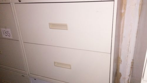 "Used HON 2-drawer 30"" lateral file putty"