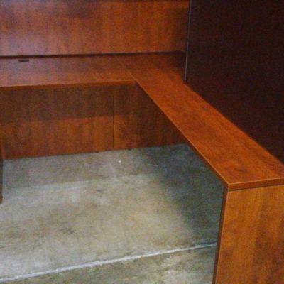 Used 6' x 7' L-shape desk cherry