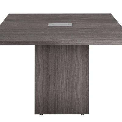 4' square conference table with cube base gray