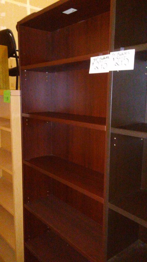 6-shelf bookcase mahogany