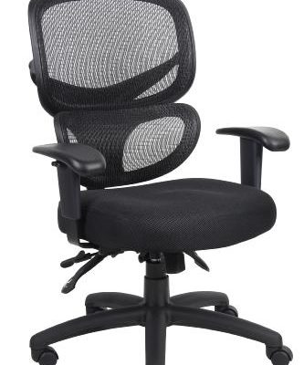 mesh back multi function task chair black