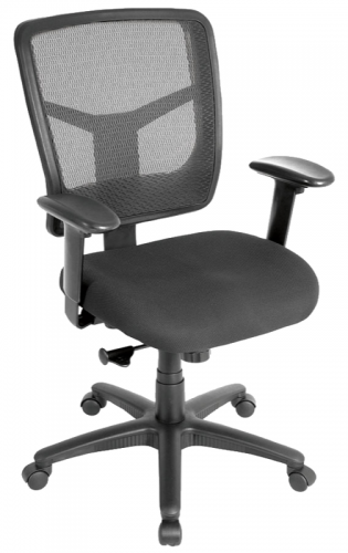 Mesh back task chair with adjustable arms black