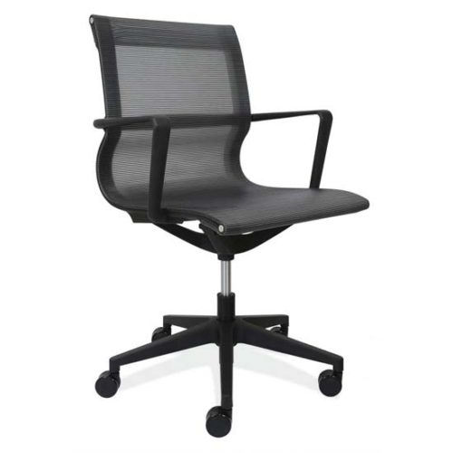 Mesh Swivel Chair with Black Frame