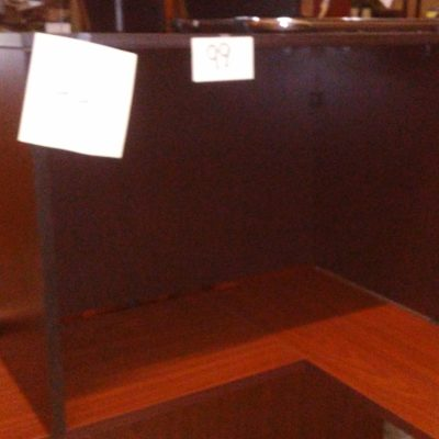 """Used 23"""" x 42"""" table desk espresso laminate"""