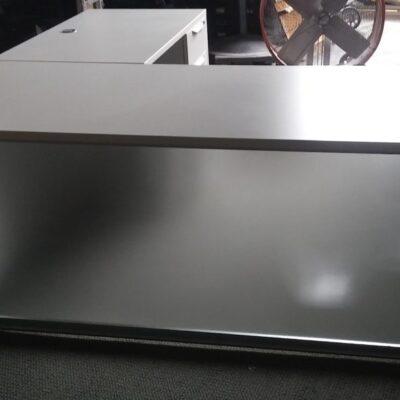 NPL acrylic front L-shape desk white