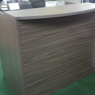 "48"" reception desk gray"