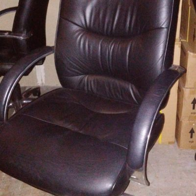 Used high back executive chair black-chrome