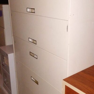 Used 42 5-drawer locking lateral file putty