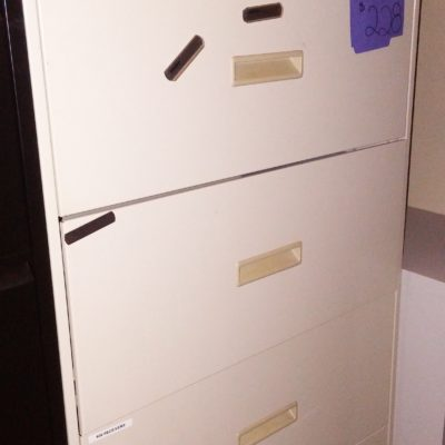 "Used HON 4-drawer 30"" lateral file putty"