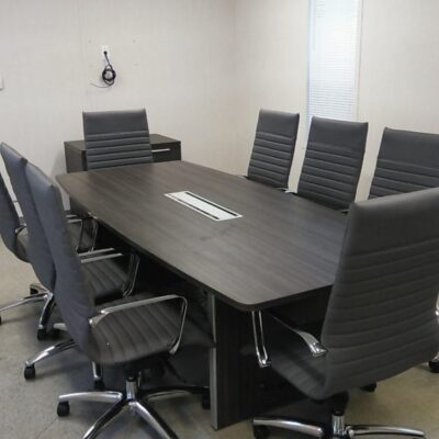 CD 8' BOAT CONFERENCE TABLE GRAY