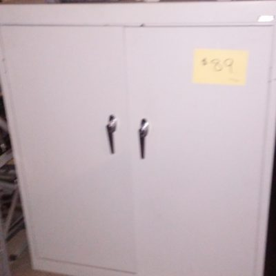 "Used 36"" X 18"" 42"" metal storage cabinet gray"