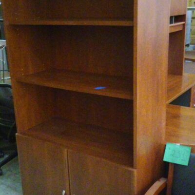 Used BUSH bookcase with doors cherry