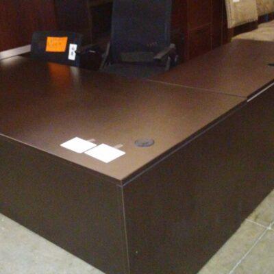 Used 6' L-desk espresso
