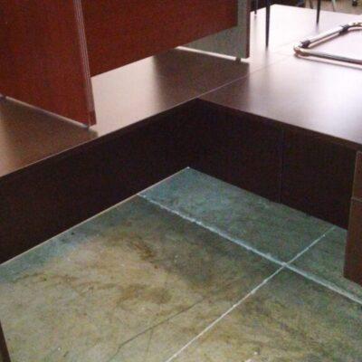 5' x 6' L desk espresso
