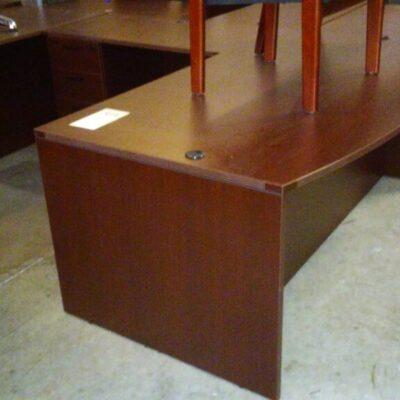 Used 72 x 78 L desk mahogany