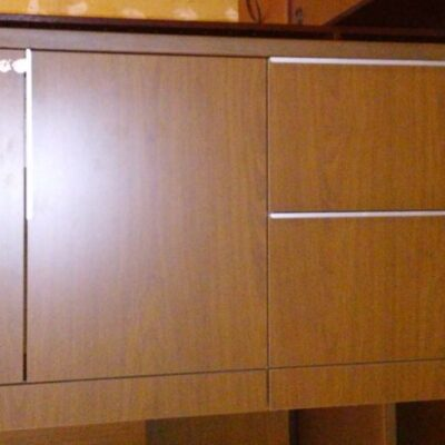 Used storage credenza walnut