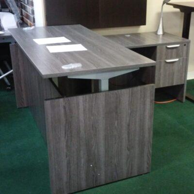 cd-npl Adjustable Height L-Desk gray