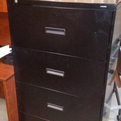 Used HON 434L 4-drawer lateral file black