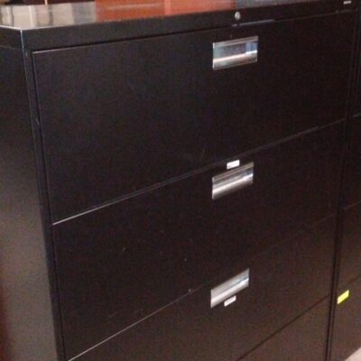 Used HON 694L 4-drawer lateral file black