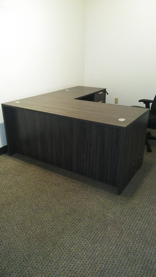L-shape desk 5.5'x6' gray laminate