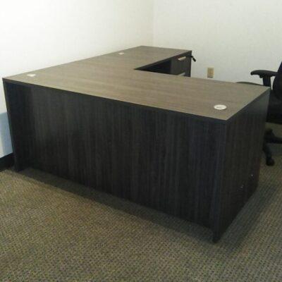NPL L-shape desk 5.5'x6' gray laminate