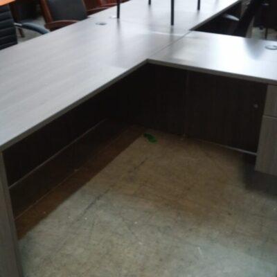 SP L-shape desk 5.5'x6' gray