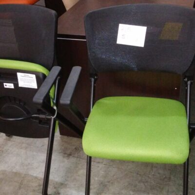 Closeout office star nesting chairs green-black