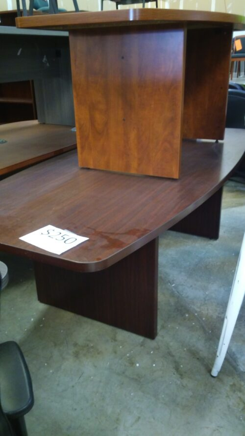 Used 8' Boat conference table mahogany