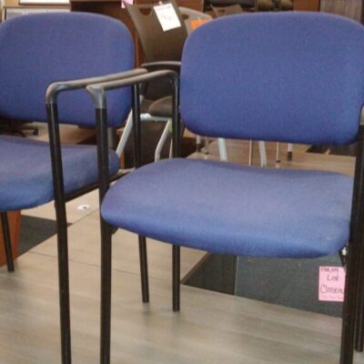 Used guest chair set of 4 blue
