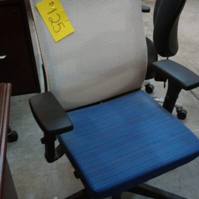 Used task chair blue seat