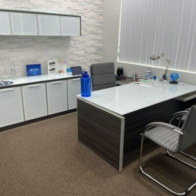 Glass top office suite