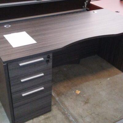 """Used CD 30""""x66"""" desk w/ box/box/file gray"""